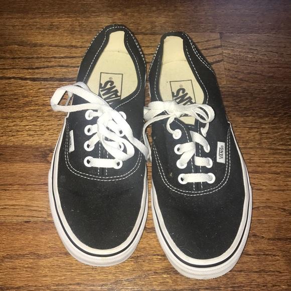 Vans Shoes | Black Size 7 Woman | Poshmark